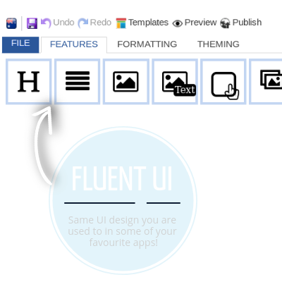 Easy fluent UI - Microsoft like, Windows, Office, SaleRise